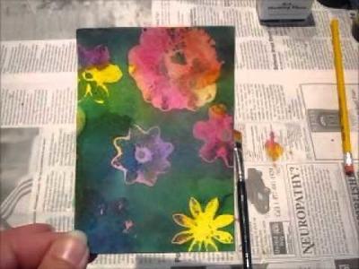 Paper Transformed - Episode 7 - Watercolor Masking Technique - Part  1 of 2