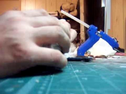 Part 2 of the how to Videos on how to make a paper craft Chimera for warhammer 40K