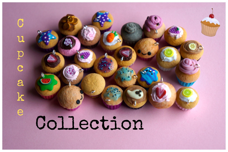 Polymer Clay Cupcake Collection Kawaii Handmade Charms