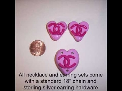 Polymer Clay Necklaces, Bracelets, Pins, and Hair Accessories