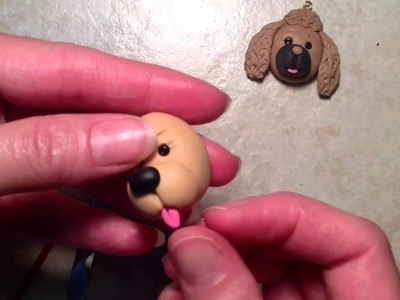 Polymer clay tutorial , charms ,cold porcelain clay puppy charm flat back charm