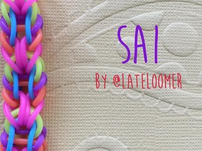Rainbow Loom Bands Sai Bracelet by @Lateloomer