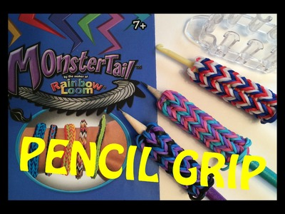 Rainbow Loom Monster Tail Pencil Grip or Hook Cozy