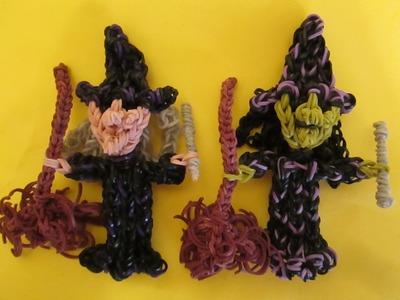 Rainbow Loom Witch Charm. Halloween.