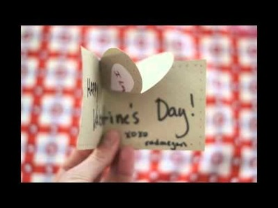 Simple Pop-Up Heart Valentine's Day Card