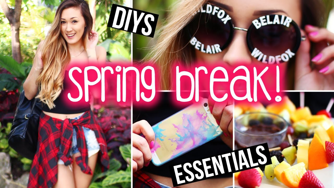 Spring Break DIYs, Accessories, Snacks & Packing Essentials ! | LaurDIY