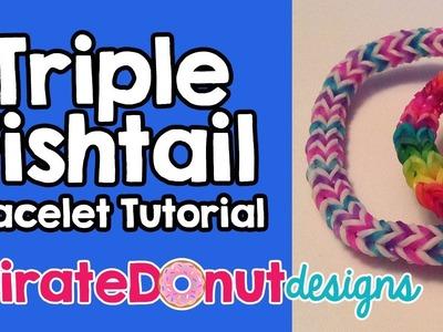 Triple Fishtail Rainbow Loom Bracelet Tutorial