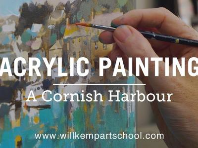 Acrylic Painting Beginners Seascape Tutorial (HD)