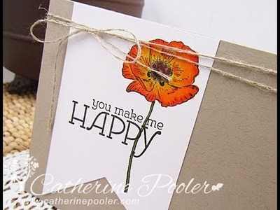 Copic Marker Tutorial with Stampin' Up Happy Watercolor