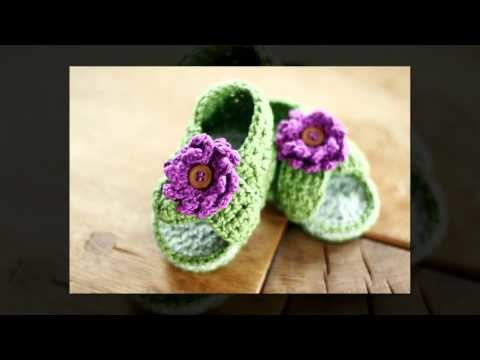Crochet baby booties tutorial