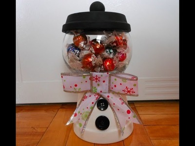 DIY: Holiday Candy Jar ♡ Theeasydiy #Crafty