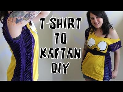 DIY T-shirt into a Kaftan style top.