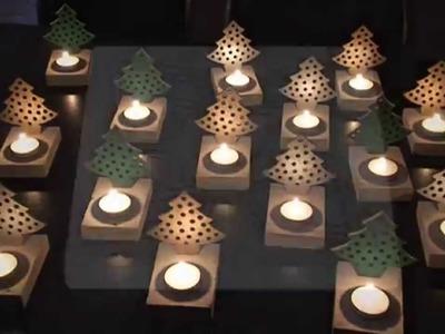 DIY whitestone caramic candle lights for christmas