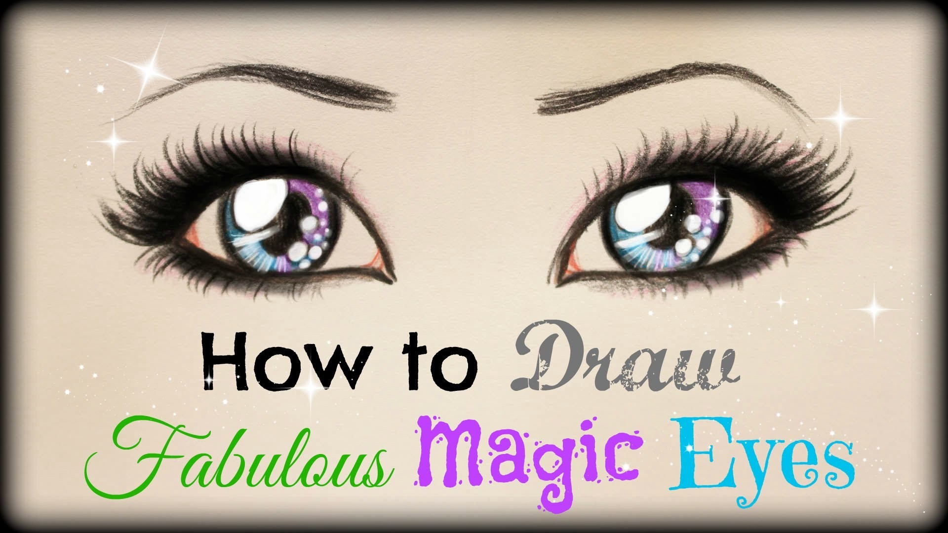 Drawing Tutorial ❤ How to draw and color Fabulous Magic Eyes