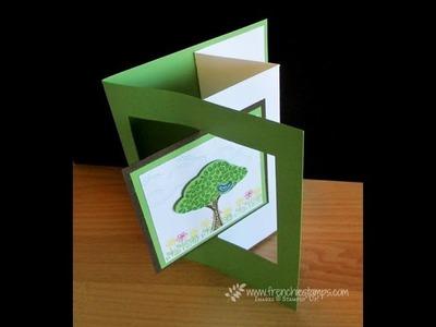 Flip card opening