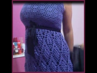Grape Crochet Dress: Top PART 3