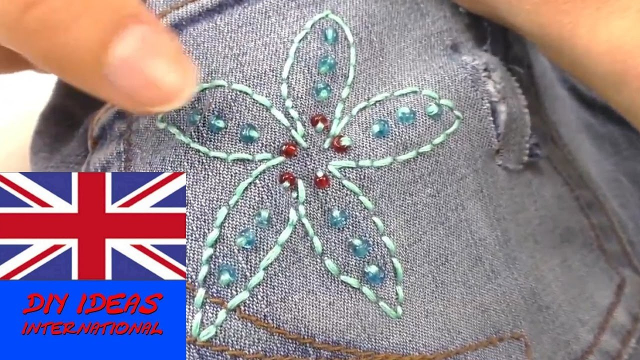 How to decorate your jeans with embroidery?