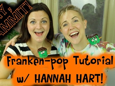 HOW TO MAKE A HALLOWEEN FRANKEN-POP W. HANNAH HART -- DIY, DAMMIT!