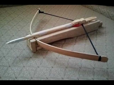 How to make a-MINI CROSSBOW-part 4 Final