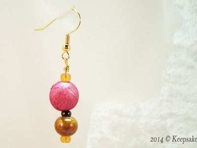 How to Make Simple Wire Wrapped Beaded Earrings
