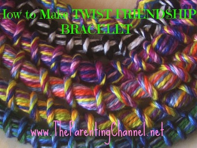 How to Make TWIST FRIENDSHIP BRACELET without Loop De Doo