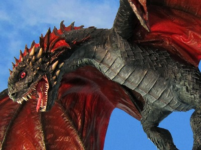 Juvie Drogon- Game of Thrones and Paper Mache