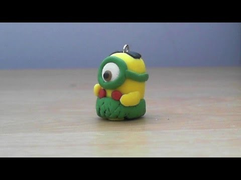 Let's make cute Jurassic Minion charm with polymer clay!