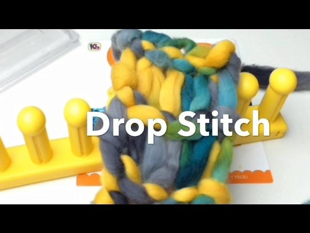 Loom Knit Drop Stitch Infinity Scarf | Zippy loom