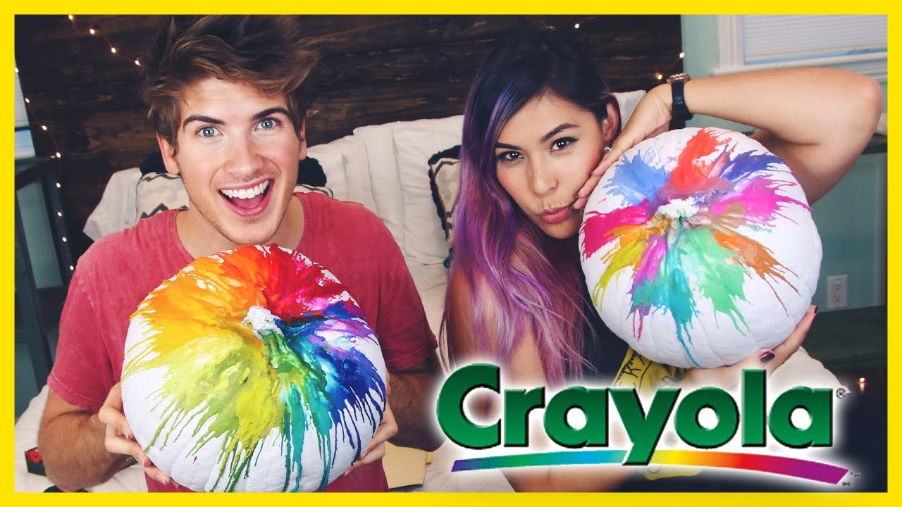 RAINBOW CRAYON PUMPKIN! - DIY With.iHasCupquake