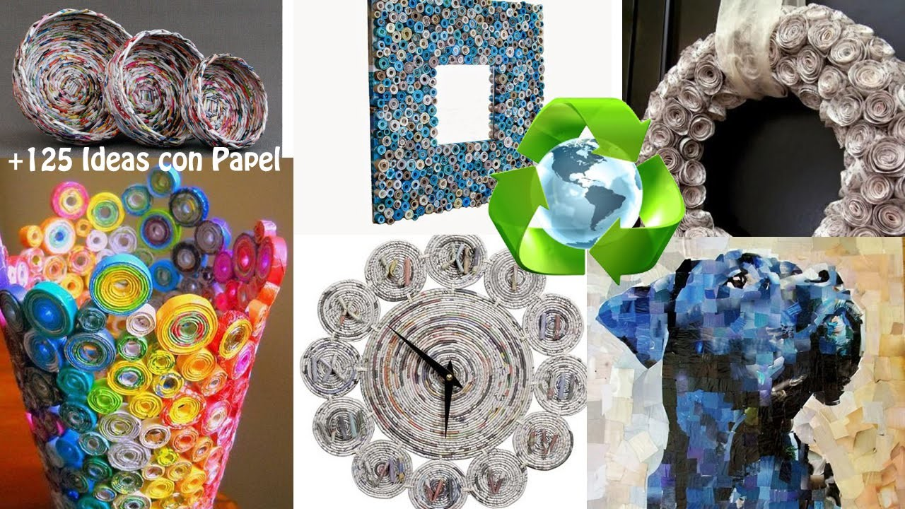 reciclaje de papel 125 ideas paper recycling 125 ideas