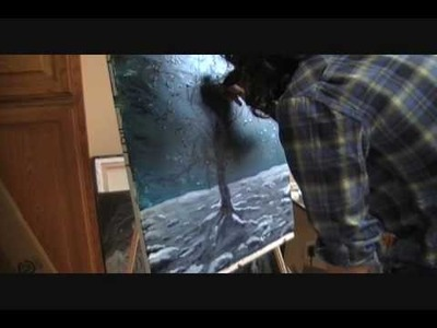 Step by step painting process. Original acrylic painting by Jacob Brest
