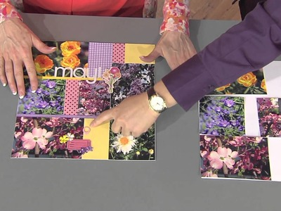 406-2 Stacy Julian makes a pocket scrapbook with a flower theme on Scrapbook Soup