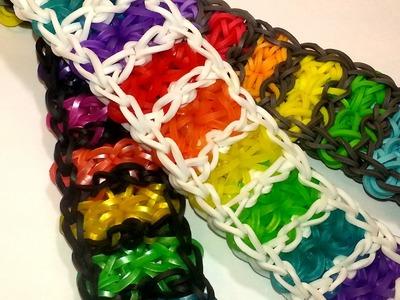 Boardwalk Bracelet Tutorial by feelinspiffy (Rainbow Loom)
