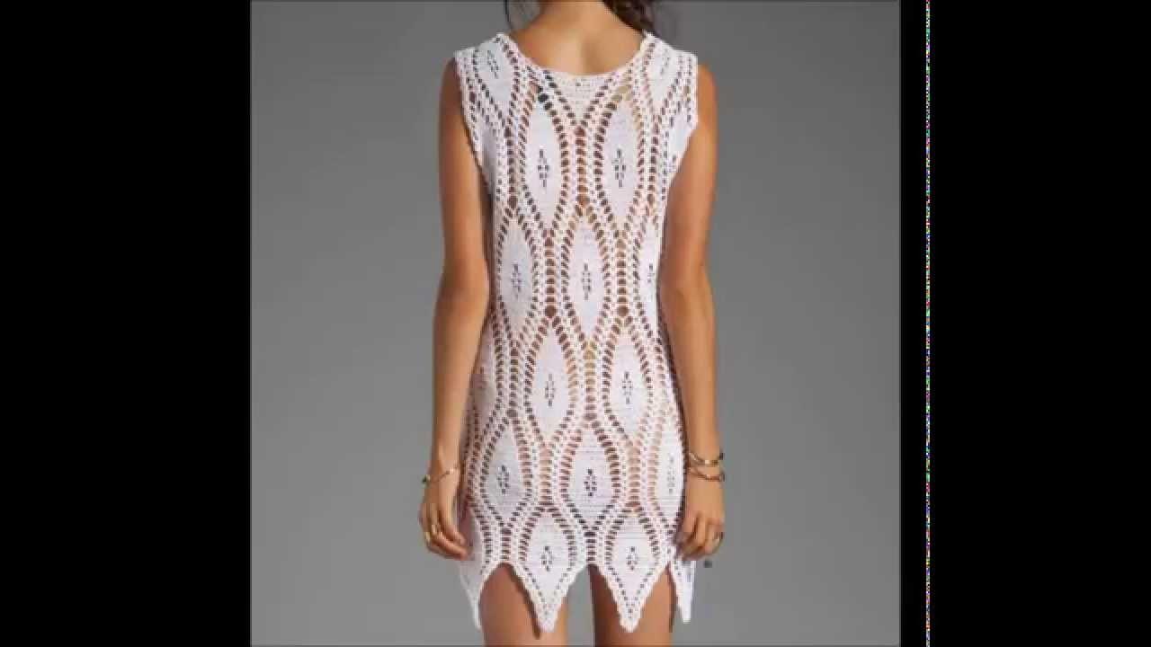 Crochet dress free pattern,- Ganchillo Vestido - Vestido de crochê