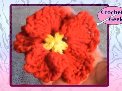 Crochet Flower Pansy - Variation 2 Crochet Geek