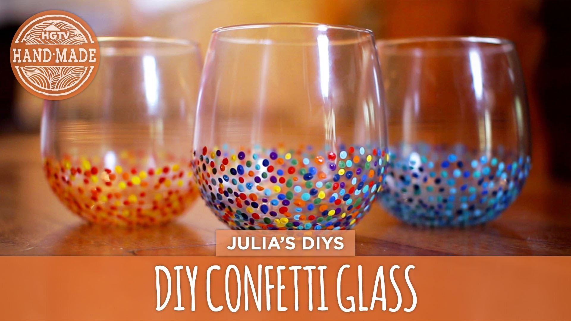 DIY Confetti Glasses - HGTV Handmade