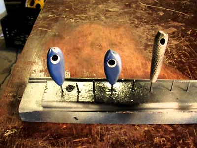 DIY How To Make A Homemade Fishing Lure Painting Rack.