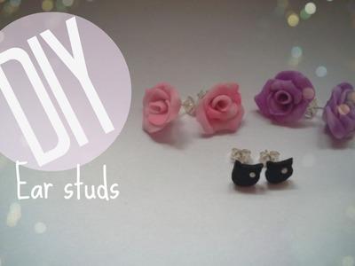 DIY | How To Make Ear Studs | CuteNailPolishArt