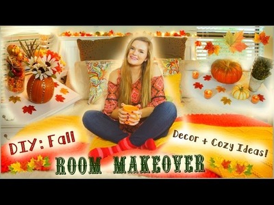 DIY: Inexpensive Fall Room Makeover + Easy Ways to Make Your Room Cozy for Fall! | Jessica Reid