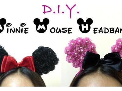✾  D.I.Y. Organza Flower Minnie Mouse Headband ✾