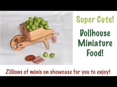 Dollhouse Miniature Polymer Clay Food Collection