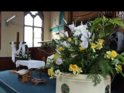 Easter Floral Decorations at Trinity Methodist Church, Shifnal