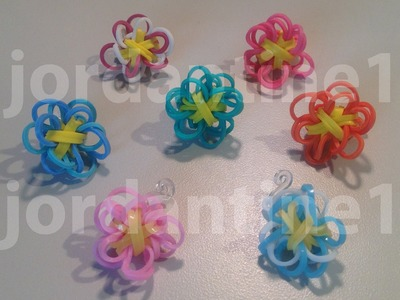Flower Fun Charm Made on the Monster Tail - Rainbow Loom