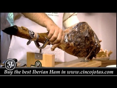 How to carve a Cinco Jotas Ham