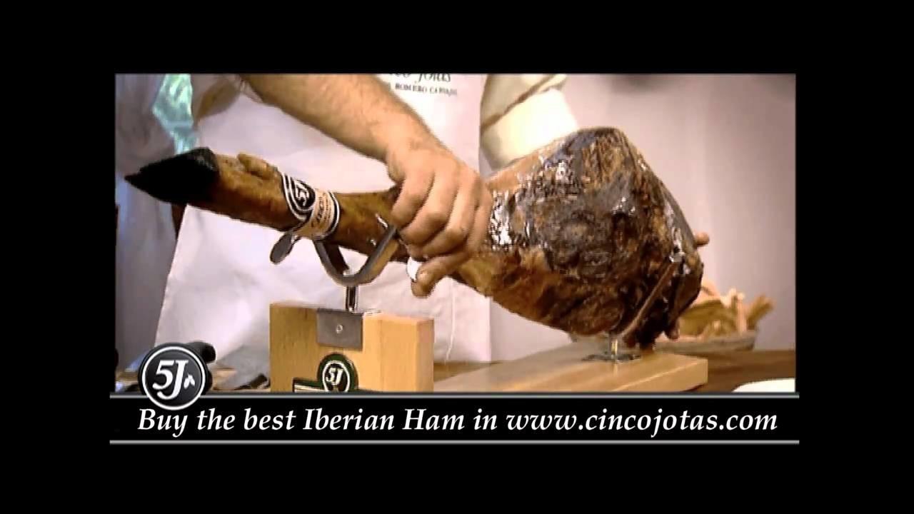 How to carve a Cinco Jotas Ham