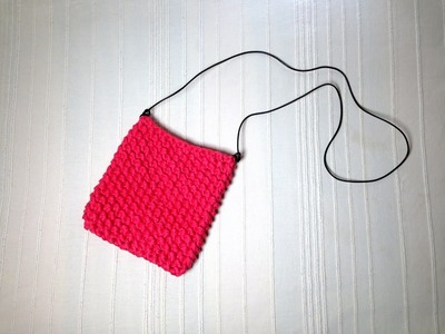 How to Loom Knit a T-Shirt Yarn Summer Purse (DIY Tutorial)