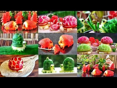 How to Make Fruit & Vegetable Turtles Decoration | Fruit Vegetable Art Carving Garnishes