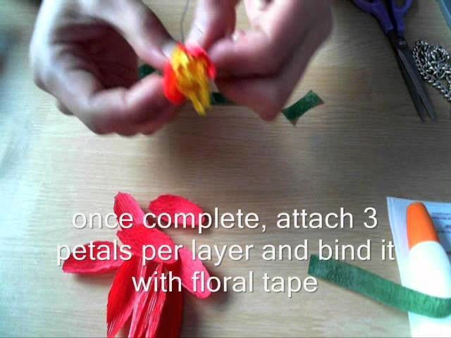 How to make paper flower blossom