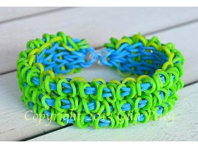 How to make Rainbow Loom Triple Single Loopy bracelet