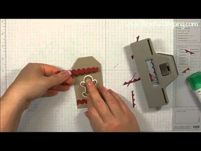How To Make Ric Rac Using Stampin' Up!'s Scallop Border Punch